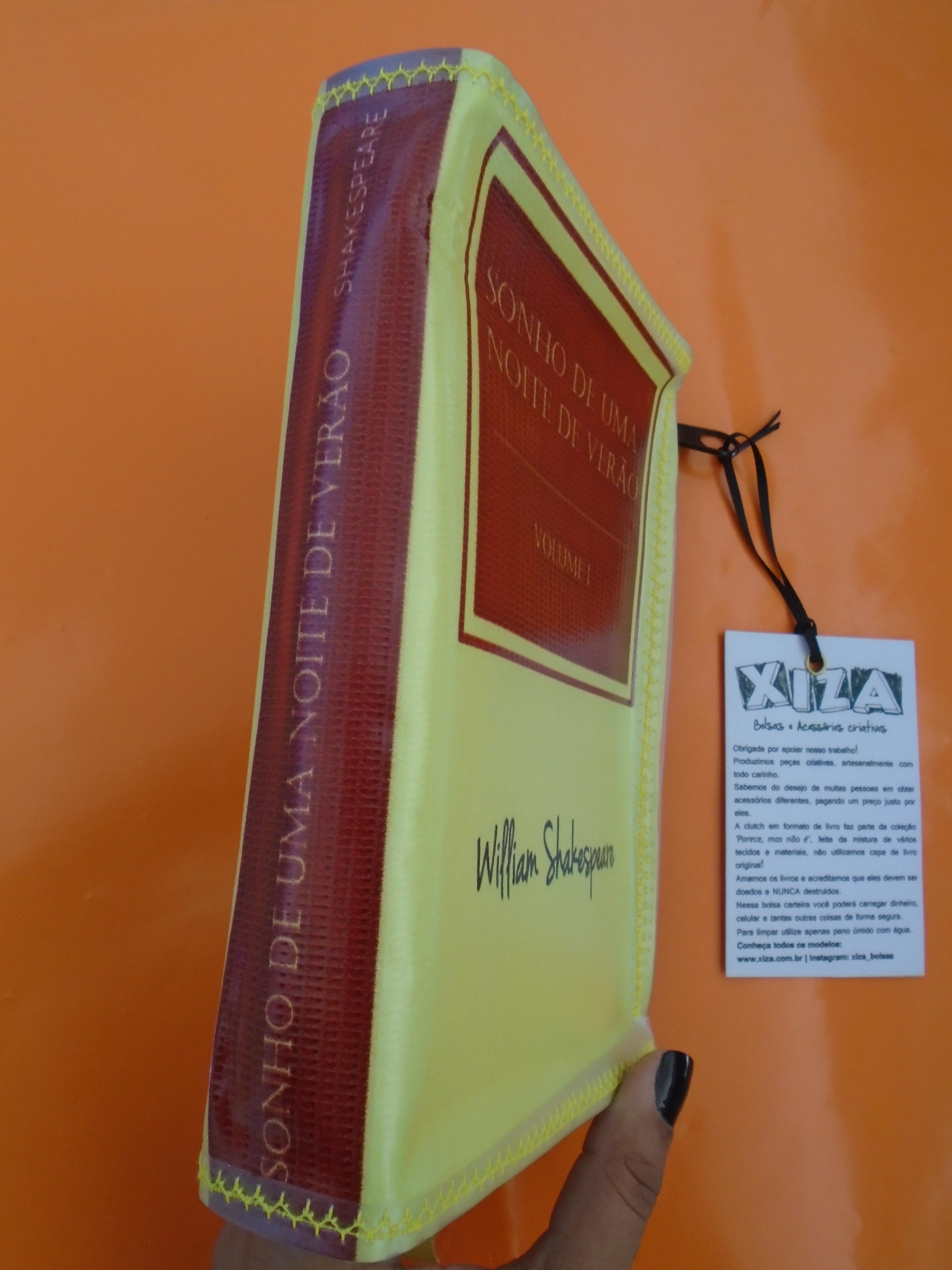 d6facdbd3 Bolsa Carteira em formato de livro - SONHO DE UMA NOITE no Elo7   XIZA  (E72980)