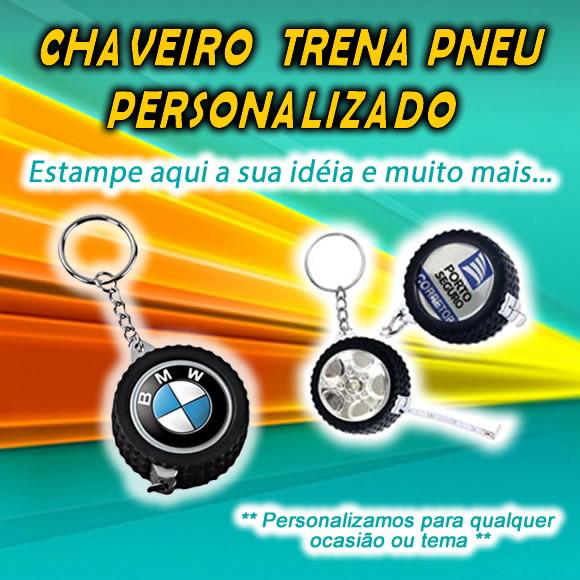 51c6587b9 Chaveiro Trena Formato Pneu