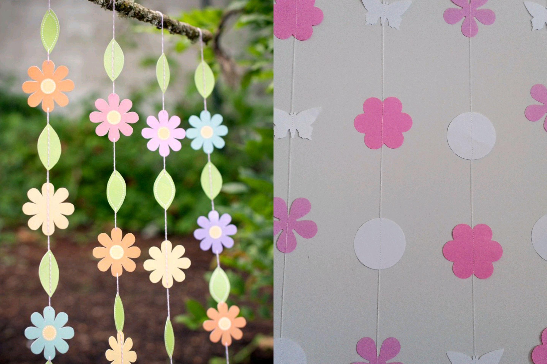 Cortina de Flores em papel de decoração festas eventos 10 uni no ...