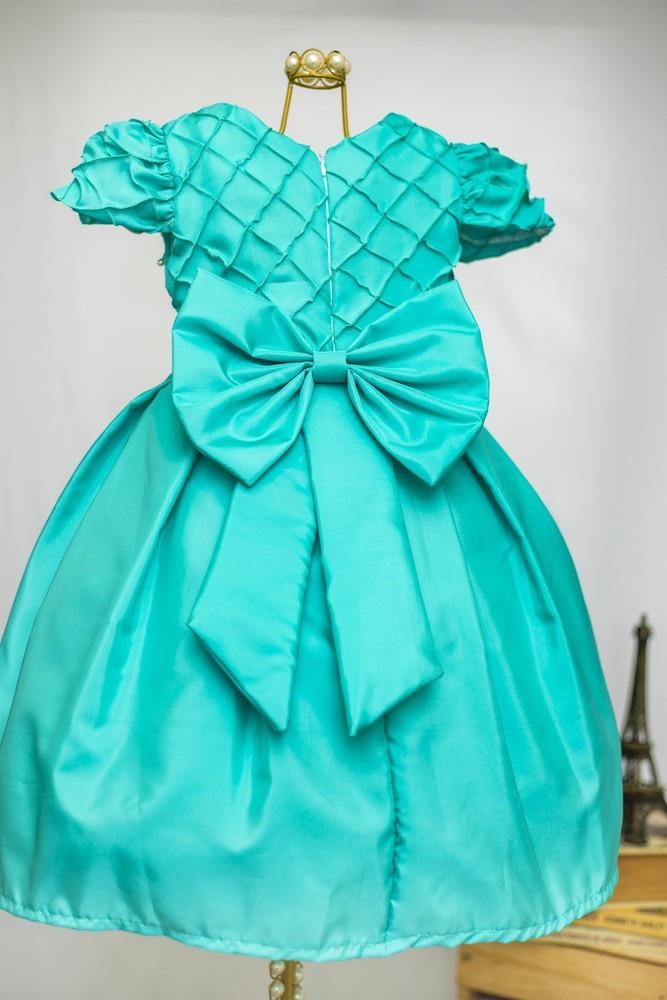 0d818a731 Vestido infantil Verde Tiffany no Elo7 | AnaGiovanna Vestidos Infantis  (E951FD)