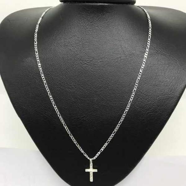 12a9bf216ef Corrente Masculina Fina com Crucifixo de Prata 925