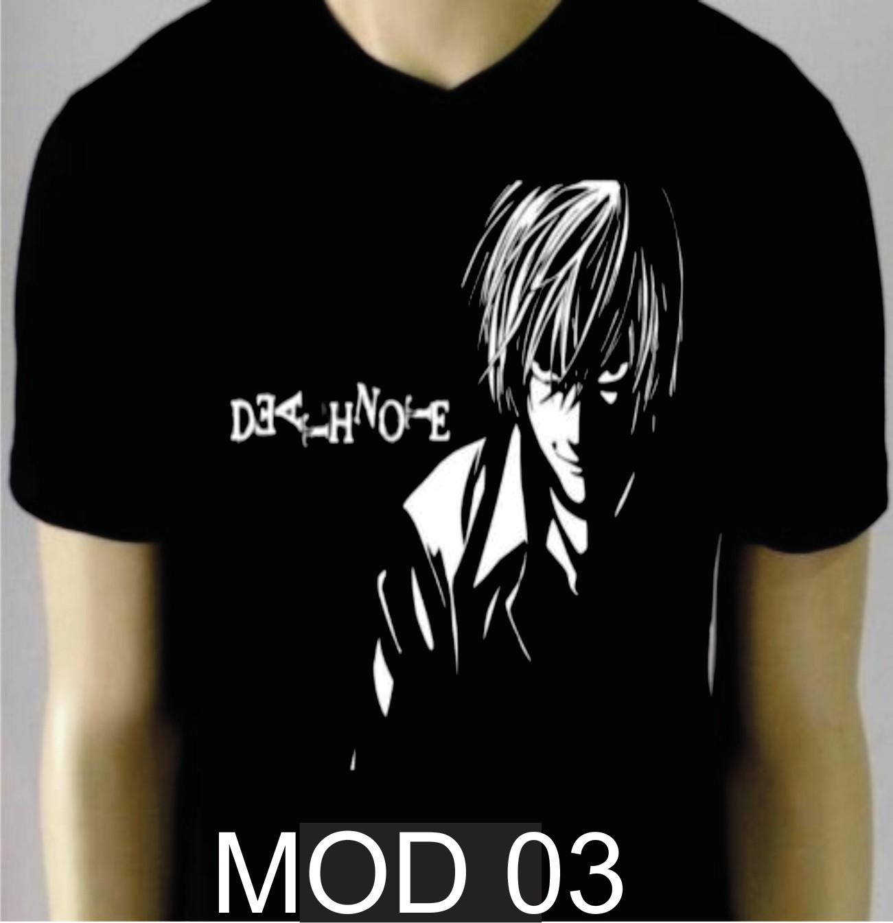 12ccb5ff2 Camisa Geek Anime Death Note Yagami Kira