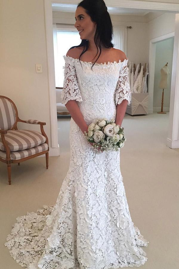 076083c493 Vestido Noiva Boho Renda Guipir Sob Medida no Elo7