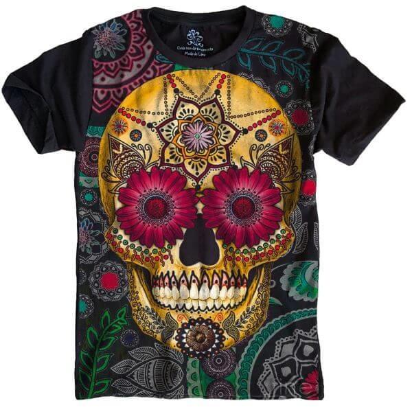 2d339065c Camiseta Caveira Mexicana no Elo7