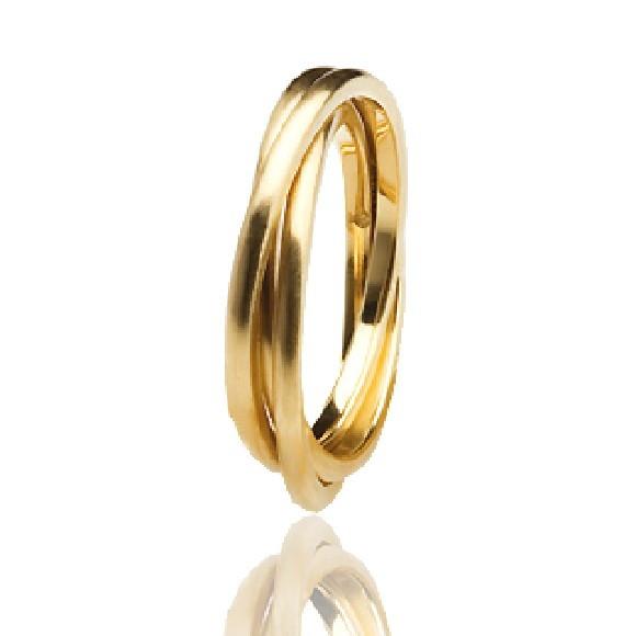 2ef086d6a8f Aliança de Ouro 18k AMONET Abaulada Tripla homenagem Cartier no Elo7 ...