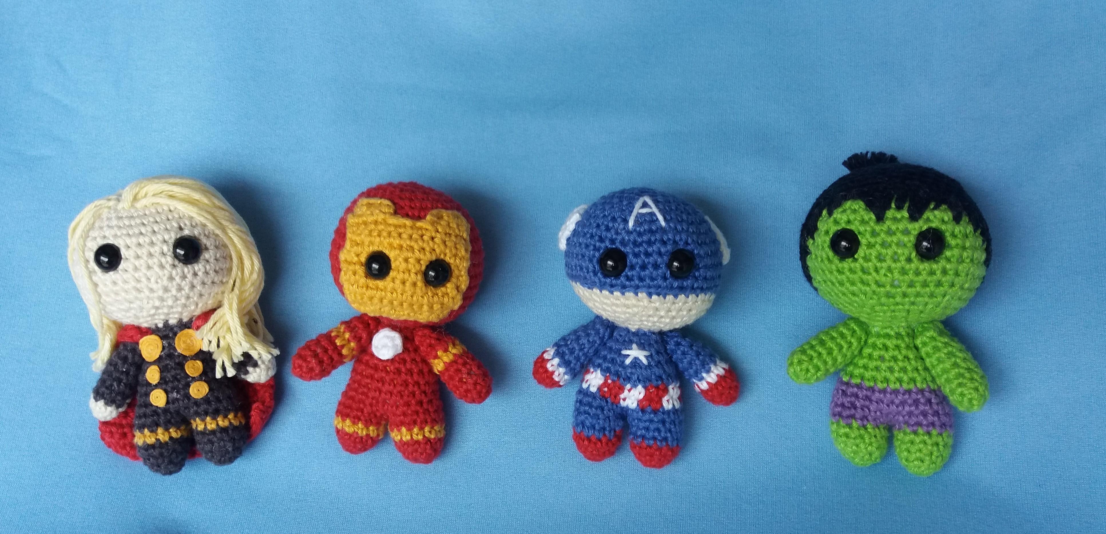 Kit Amigurumi Os Vingadores Feito A Mão De Crochet . - R$ 25,00 em ... | 1867x3867