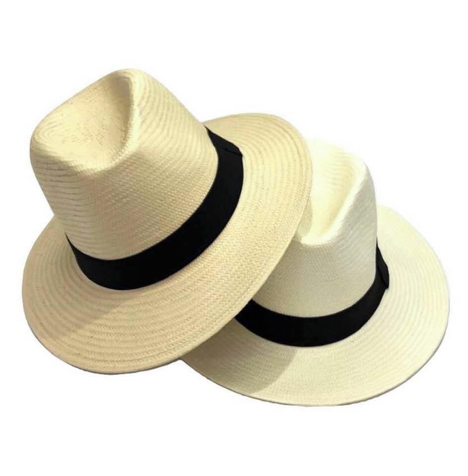 6845d9d4de820 Chapeu Estilo Panama Classico Aba Longa Masculino Feminino