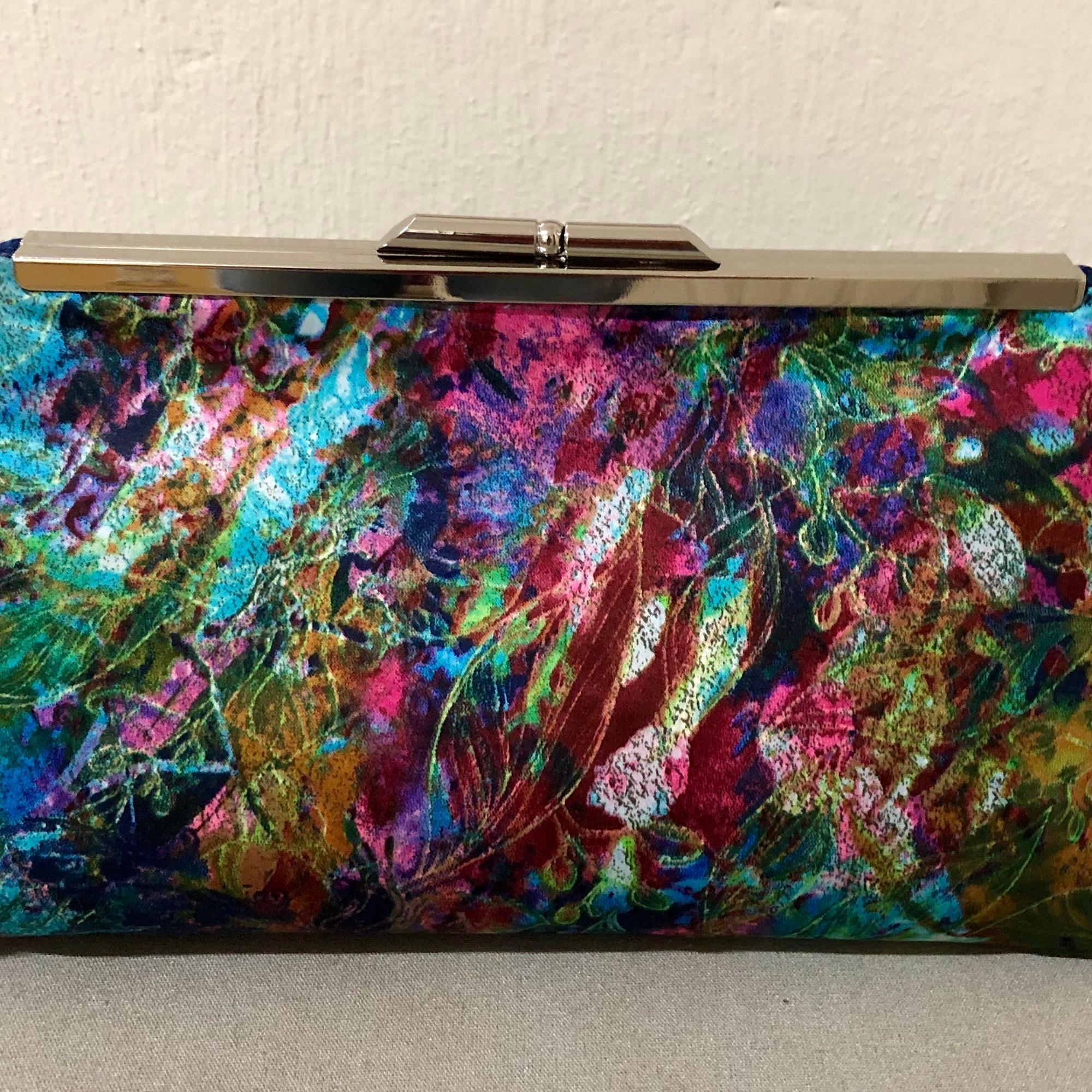 e618a4210 Bolsa Clutch Estampada Colorida no Elo7 | Eleganza Design (BEBBCC)