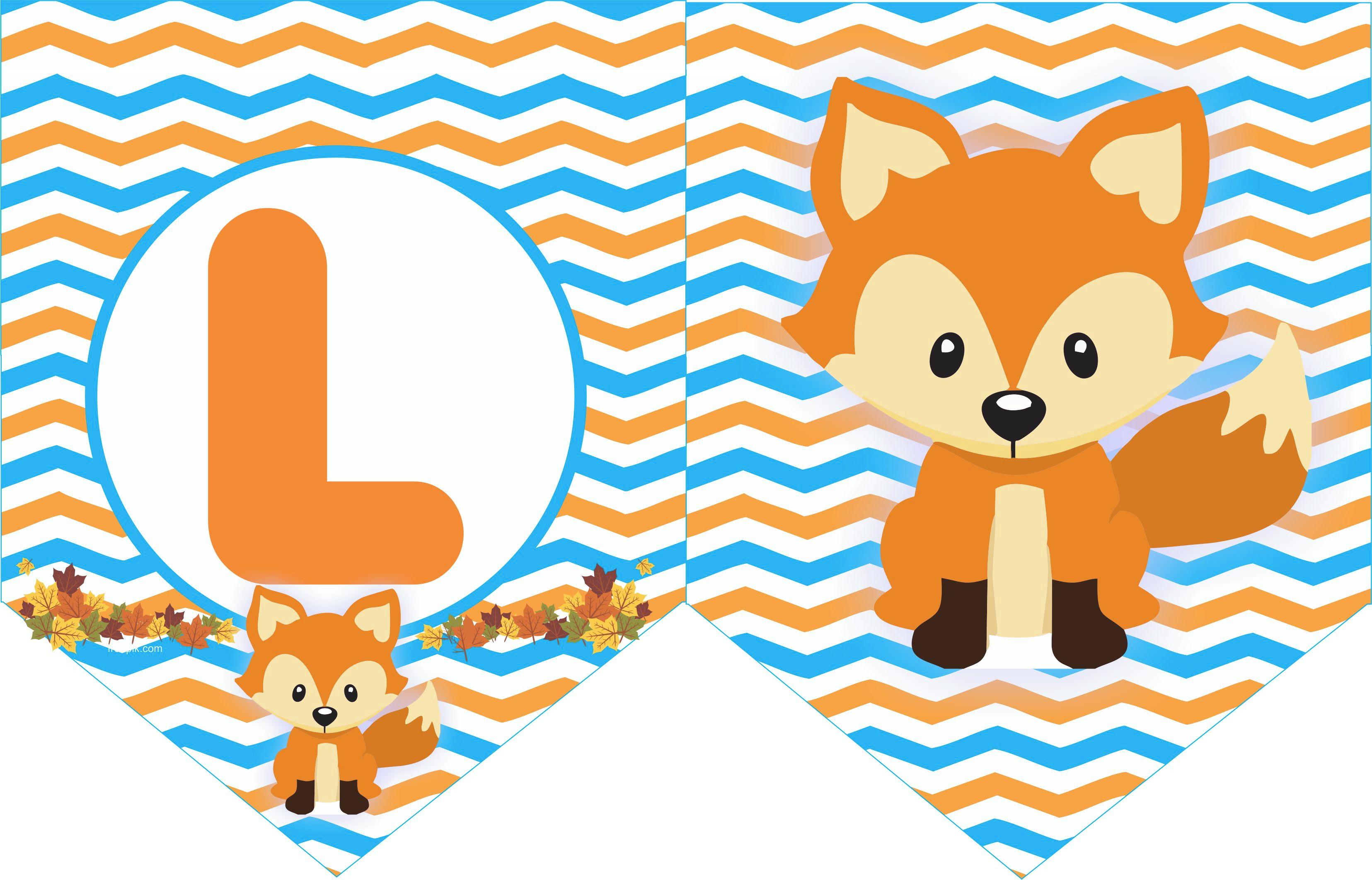 Bandeirola Raposa Animais Do Bosque No Elo7 La Dulce Embalagens