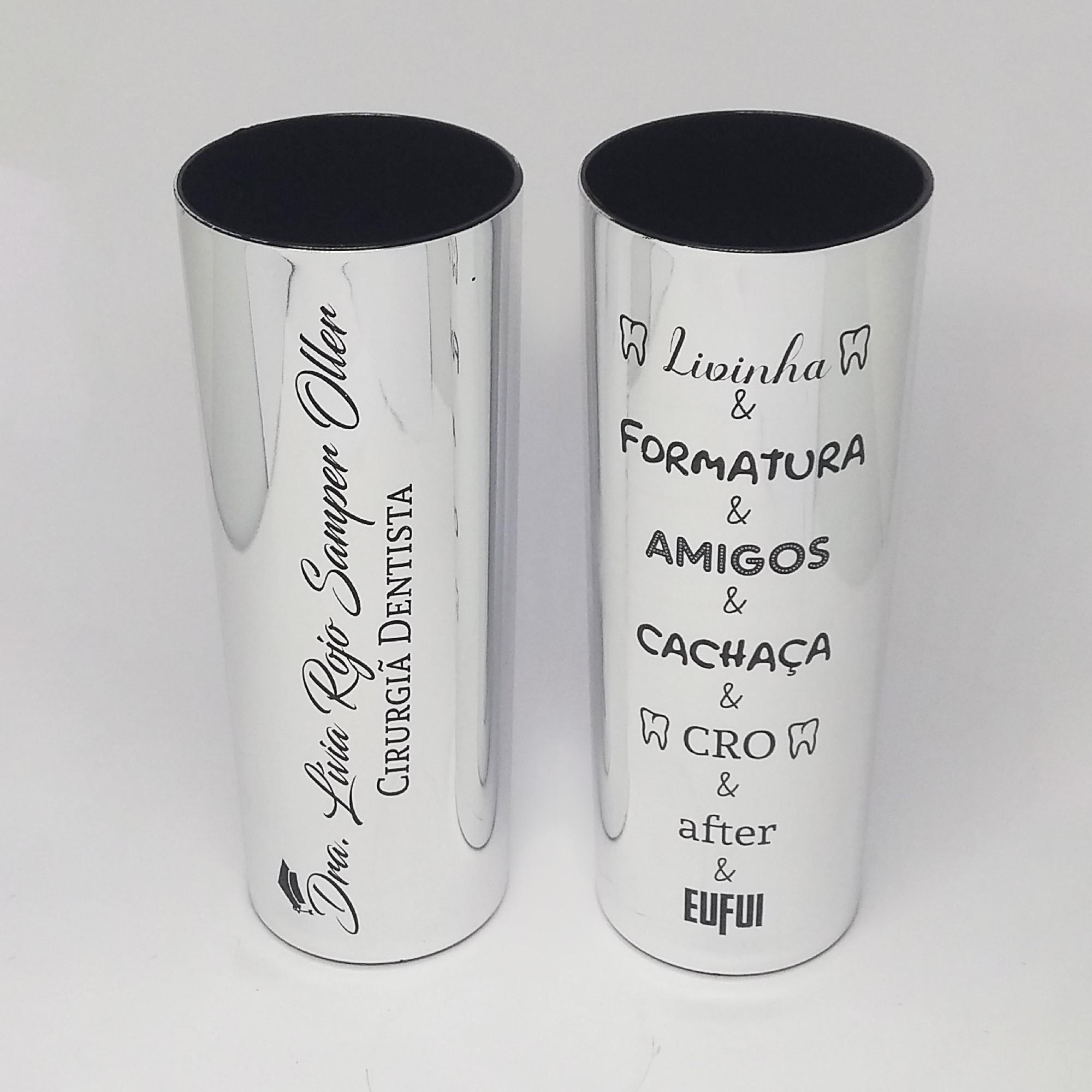 a651a694f Copo Long Drink 15 Anos Formatura Frente e Verso