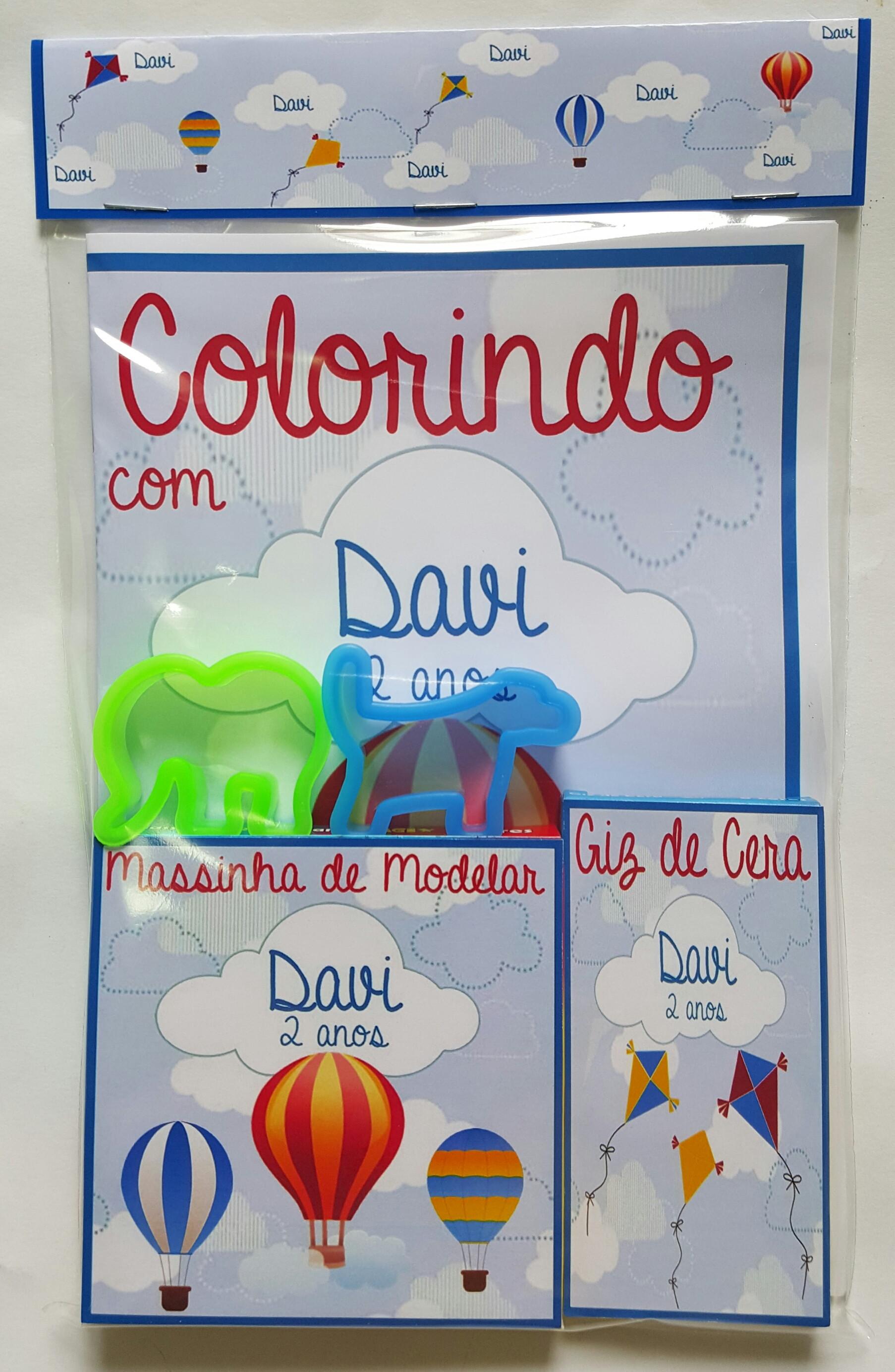 Kit Colorir Com Massinha Giz 2 Moldes Baloes E Pipas No Elo7