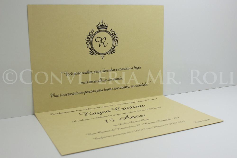 Convite 15 Anos Marfim Arabesco E Laco Chanel Preto No Elo7
