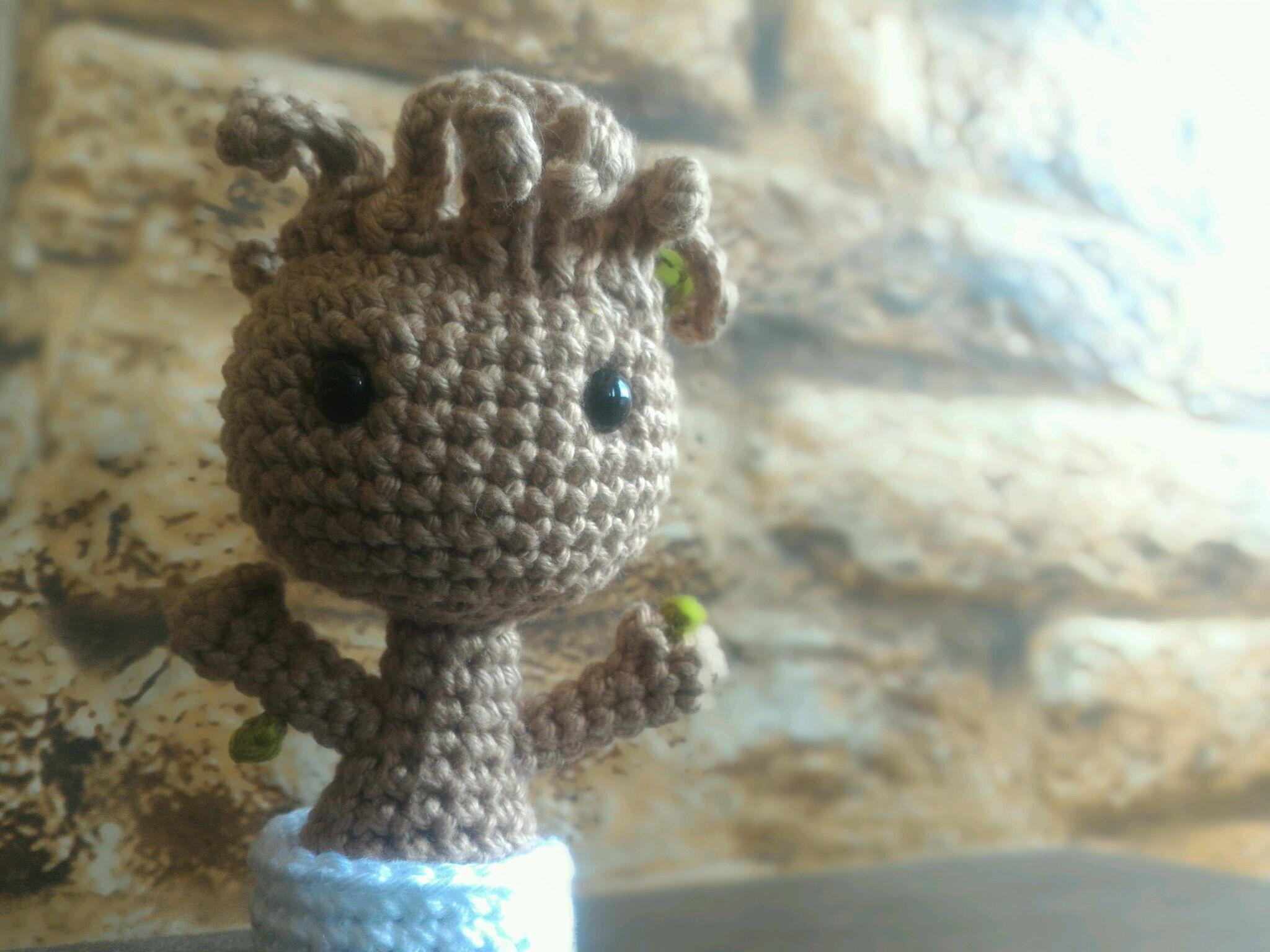 DIY PATTERN - Baby Groot (vol2) - Amigurumi Crochet Pattern ... | 1536x2048