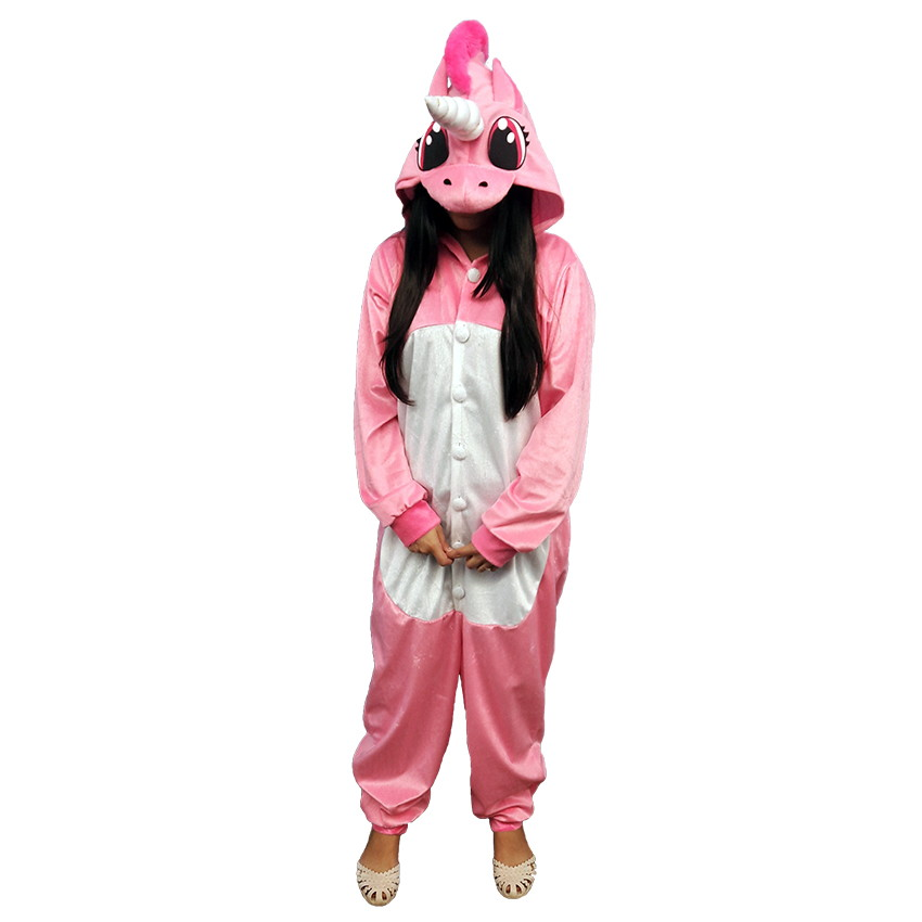 a12b5f53d098a9 Pijama de Unicornio Kigurumi Rosa | Elo7