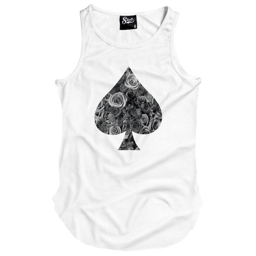 f54f508f972d3 Camiseta Masculinas Regata Longline Poker Floral no Elo7