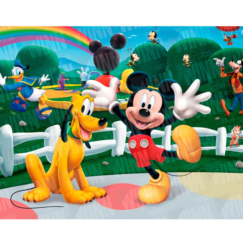 Painel Desenho Infantil Festa Turma do Mickey 2x1,5m no Elo7 ...