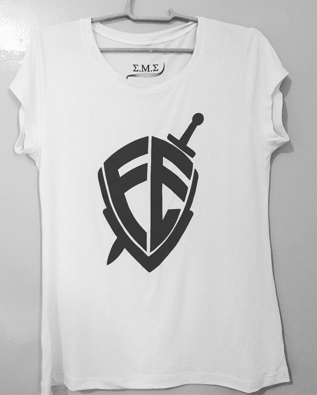 a9cf50bed4d Camiseta Raglan Evangelica Fe Escudo | Elo7