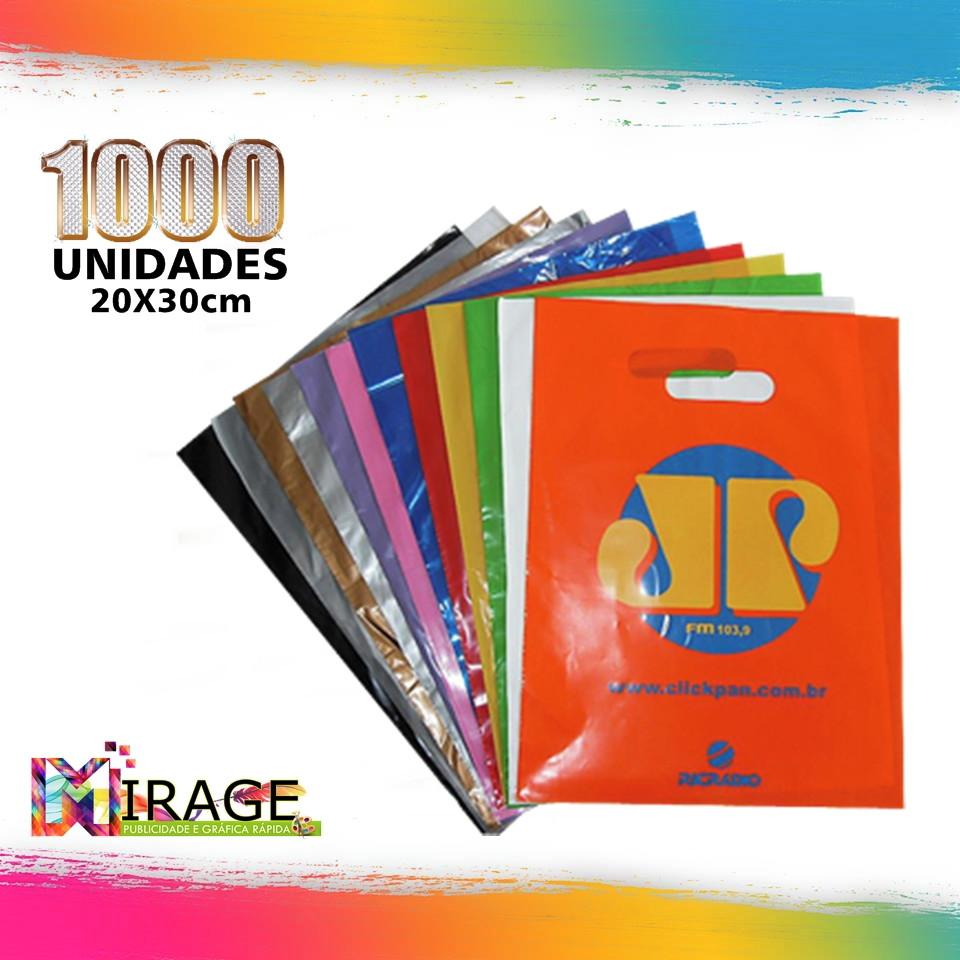 1070a62d5 Sacola Plastica Personalizada 30x40cm