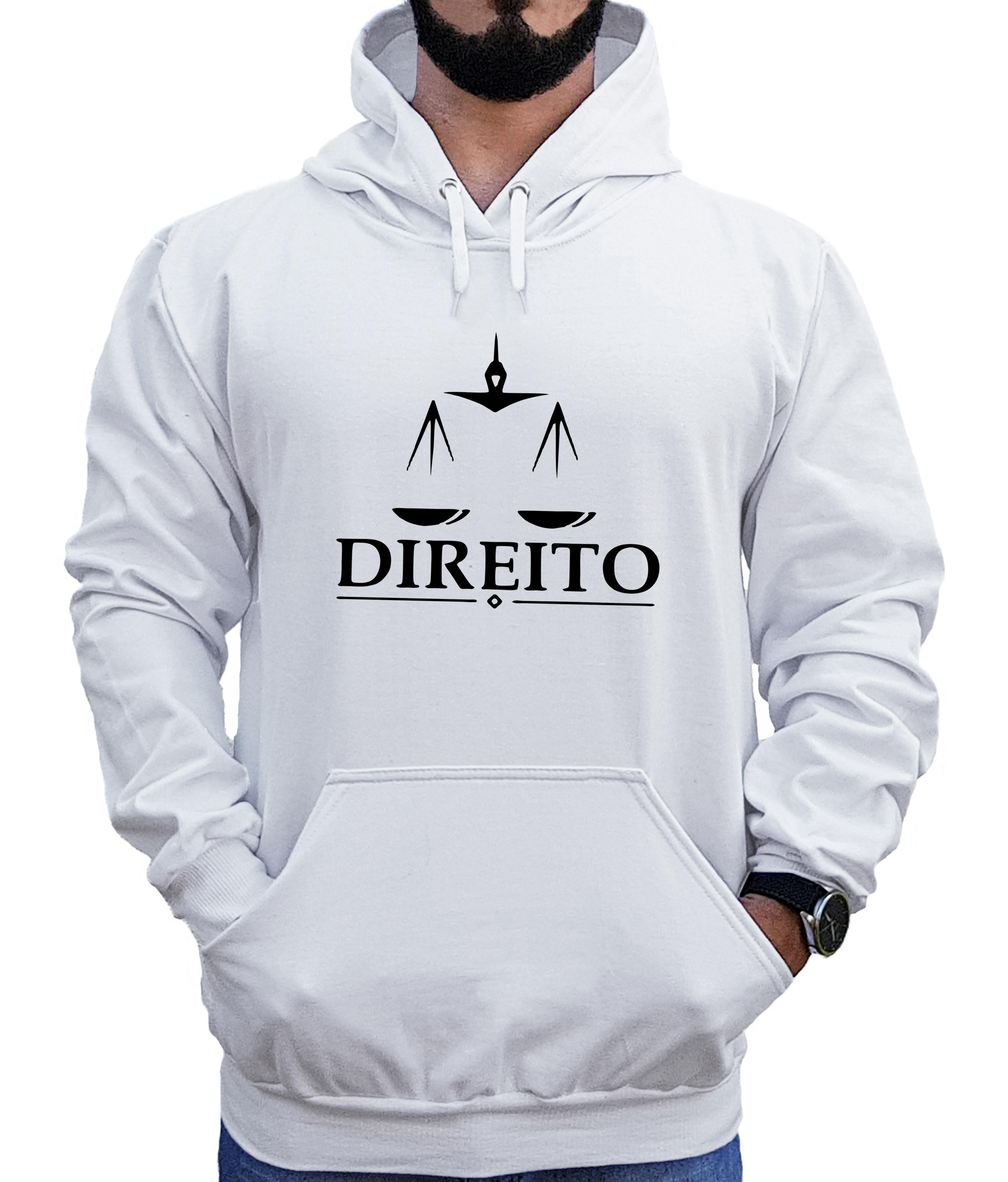 d003b169b101c4 Blusa Moletom Liso Capuz Bolsos Moleton Branco Preto Cinza | Elo7