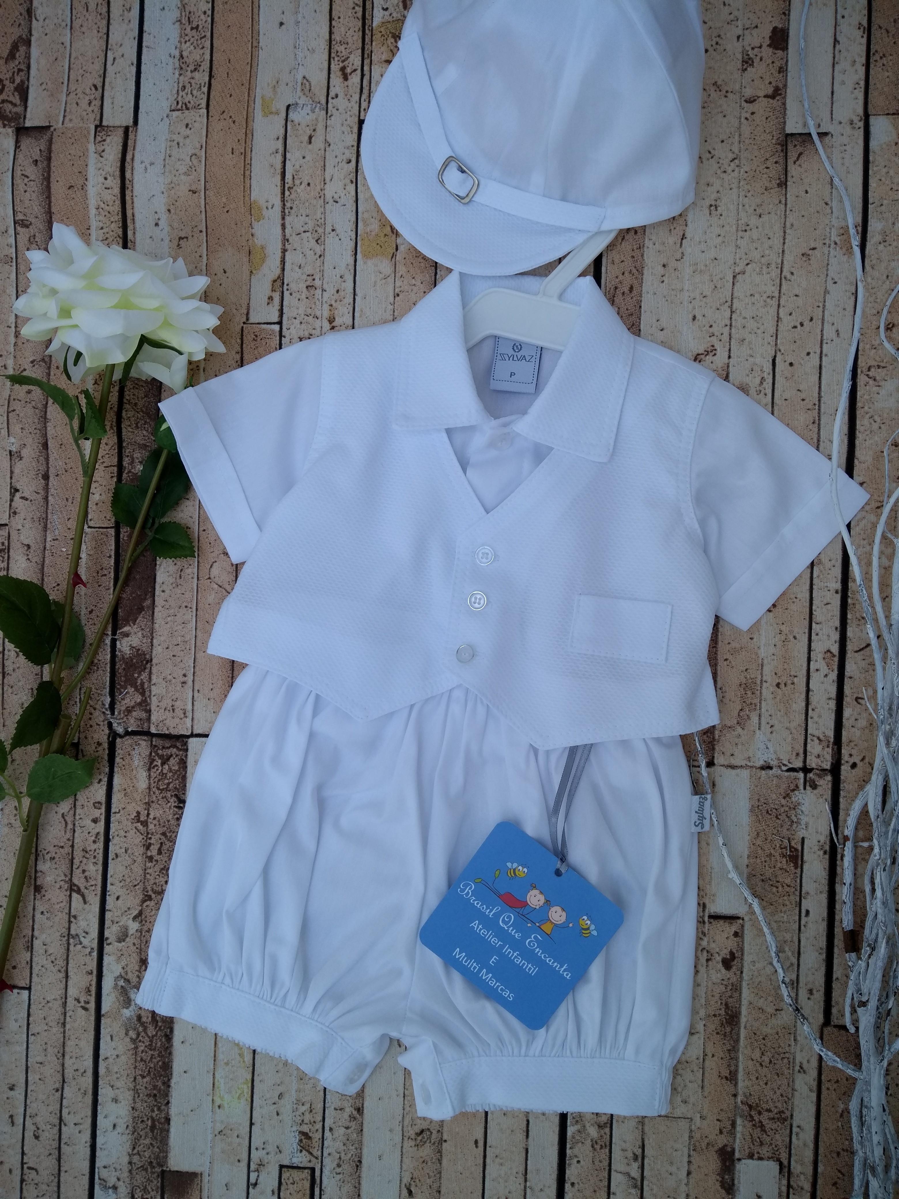 237e8960be Conjunto de Menino para Batizado Infantil