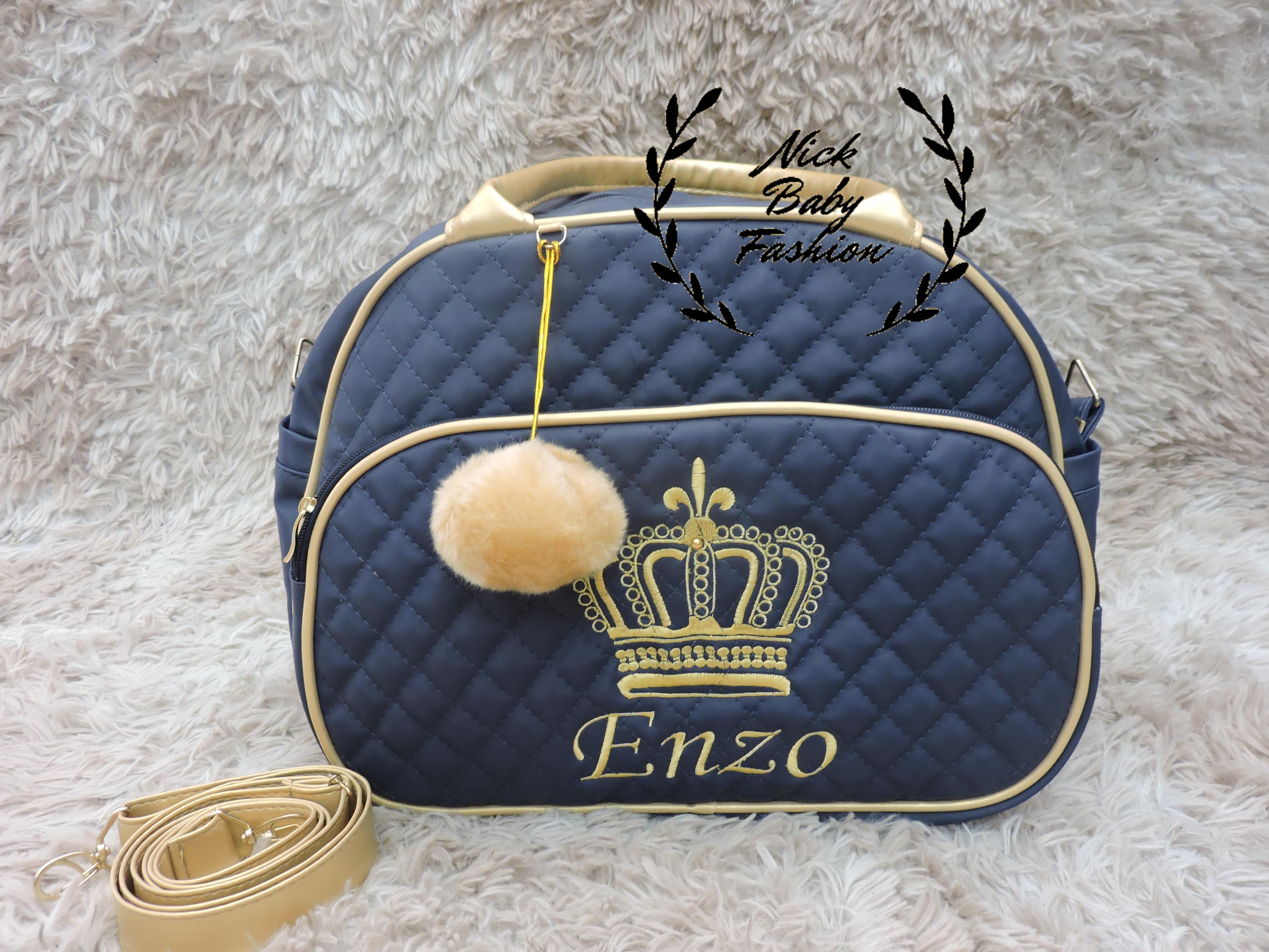 434741e42 KIT BOLSAS MATERNIDADE C/NOME BORDADO no Elo7 | Nick Baby Fashion (ED813E)