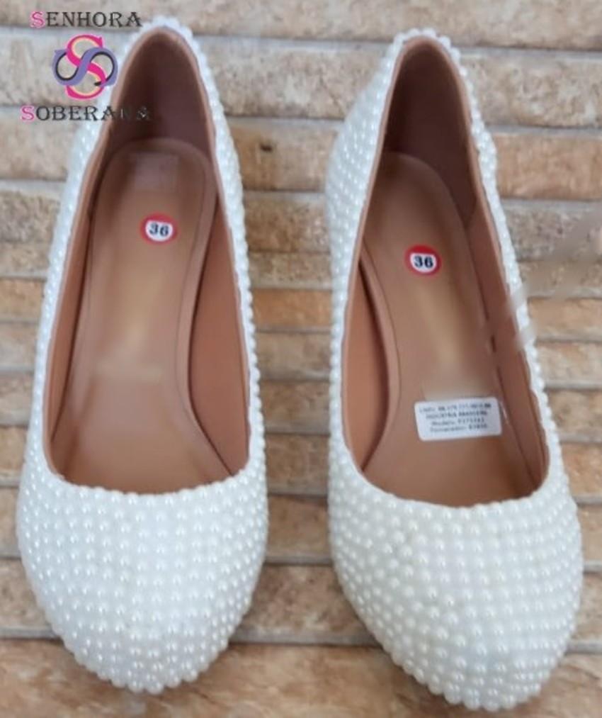 5bbb7587d7 Sapato Meia Pata perolas Branco Cinderela Glamour(Noivas) no Elo7 ...