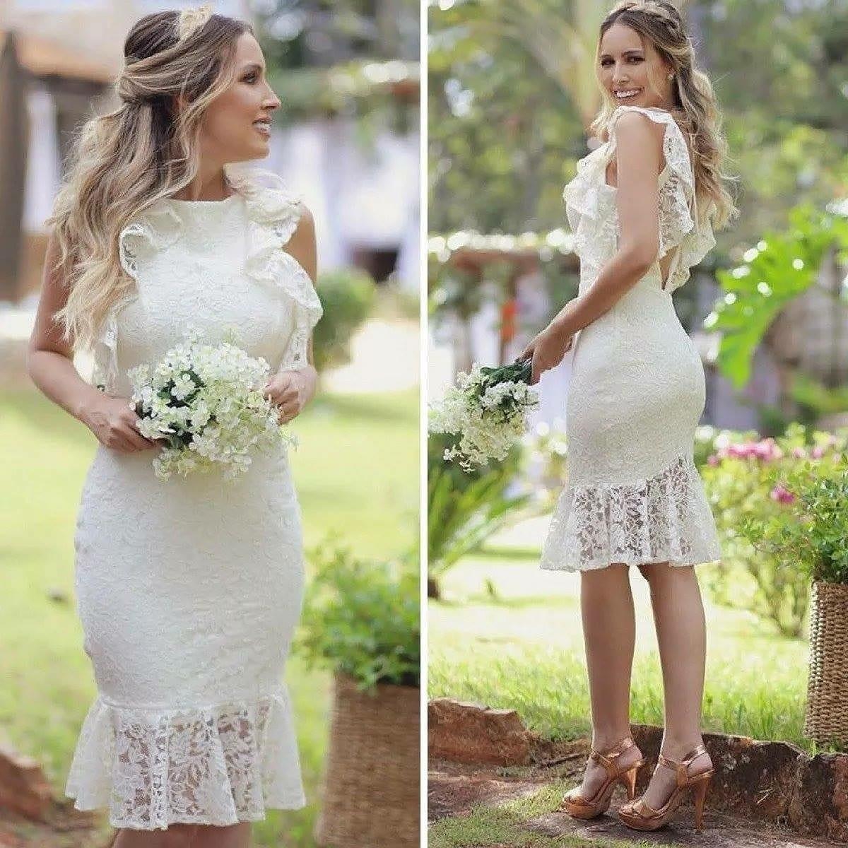 Vestido Casamento Civil Gravida Elo7