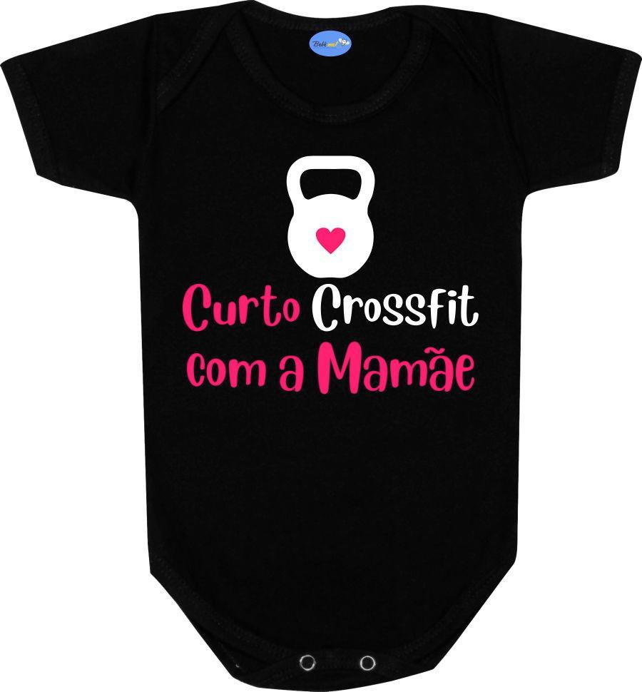 cb800f27a6f Body Bebê Frase Curto Crossfit com a Mamãe Roupa Menina no Elo7 ...