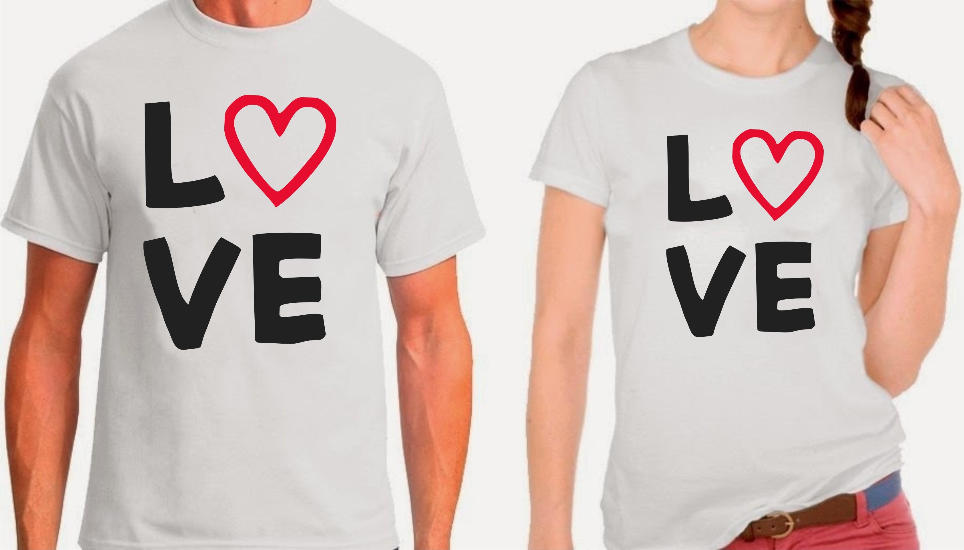 cbc9a5089bd6e Blusa Masculinas Namorados Love Casal | Elo7