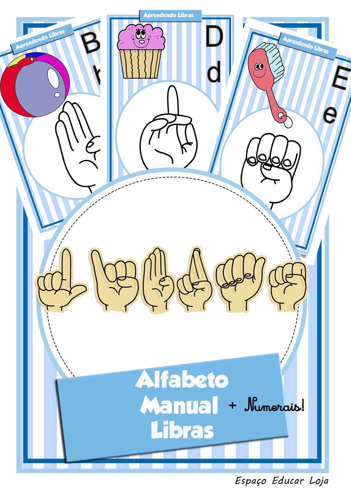 Alfabeto Em Libras Ilustrado Cartazes Varal Numerais Em Pdf3 No