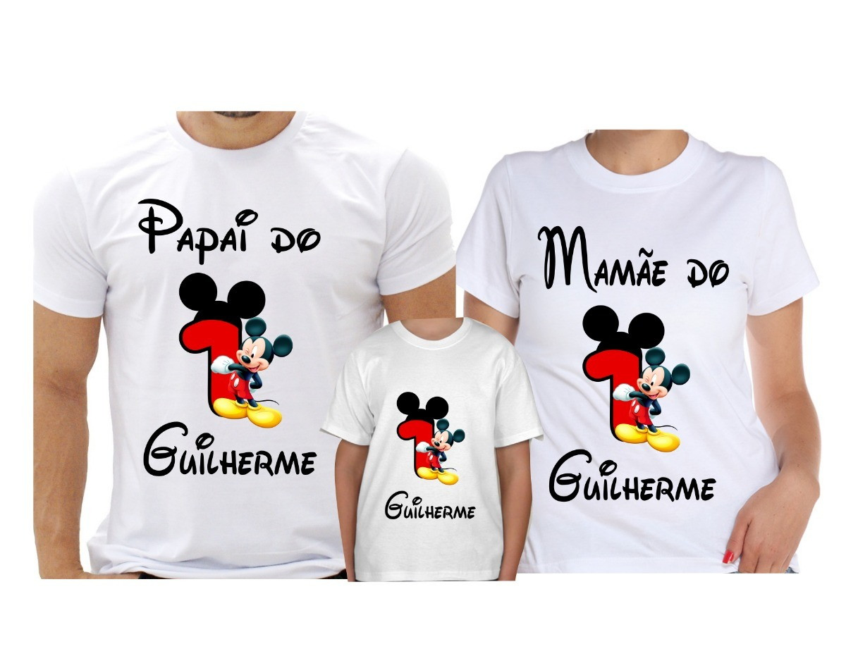c15b1307e517 Camisetas Familia Personalizadas Mickey   Elo7