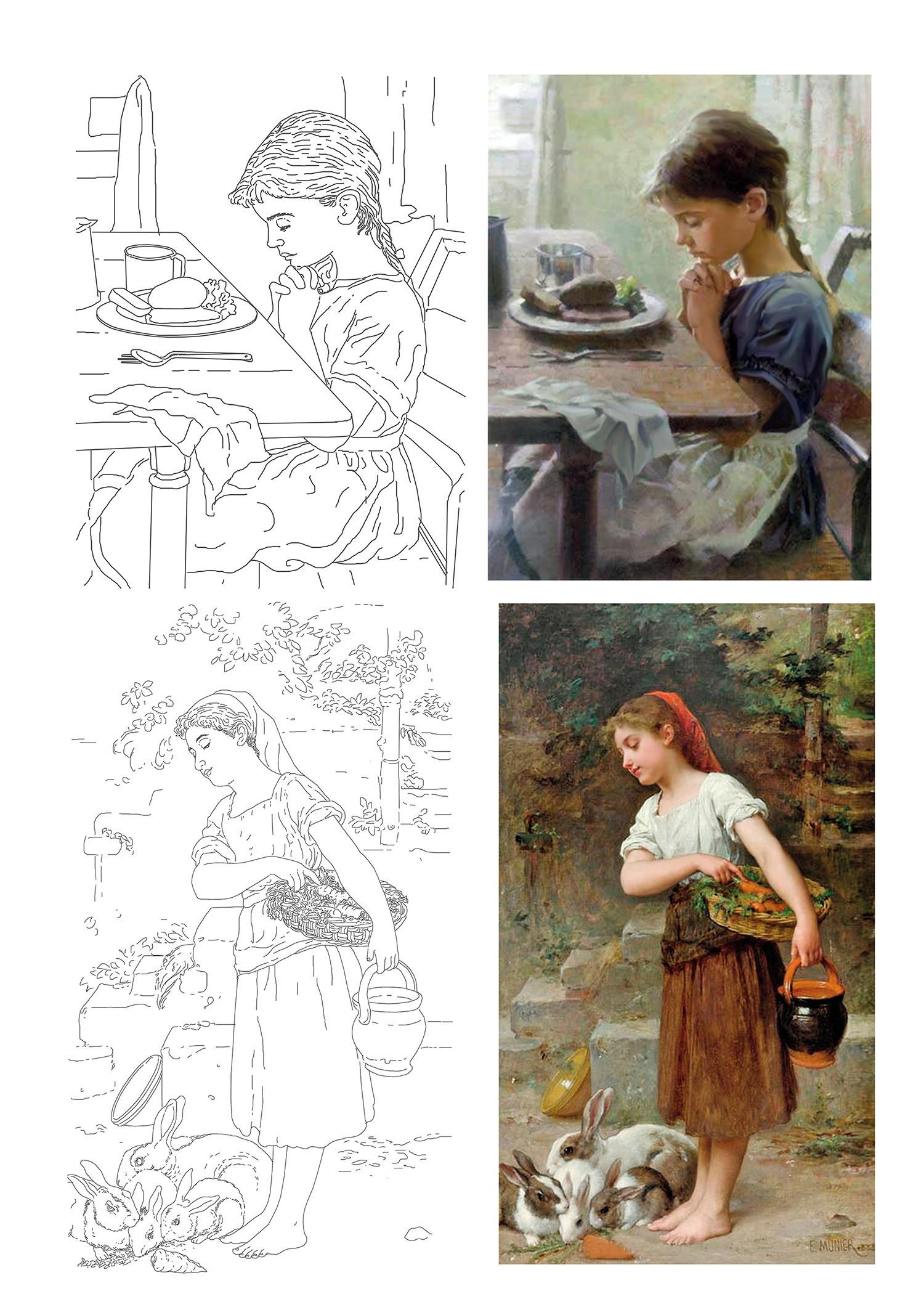 Desenho Para Pintura Em Tela No Elo7 Imaginacao Arte E Fantasia