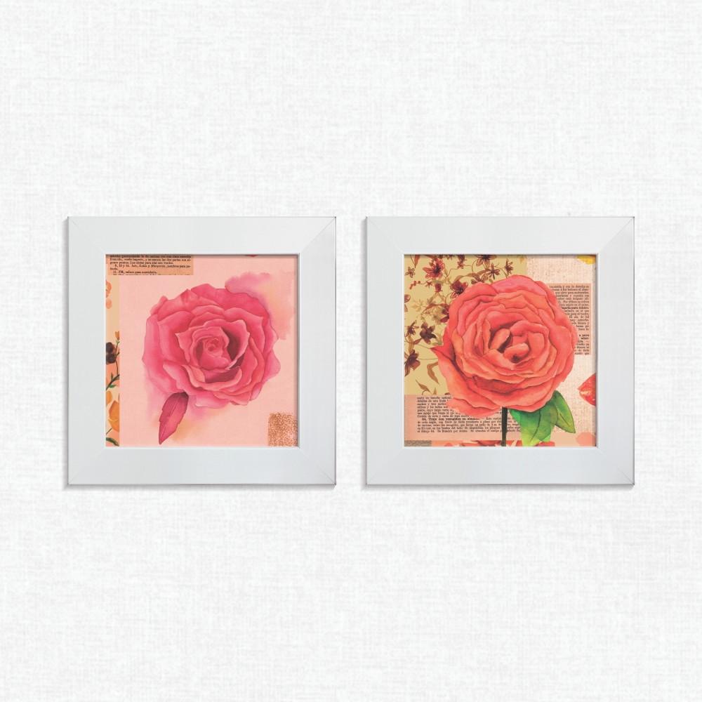 a442f4739 Quadros Decorativos Cozinha Flor Rosa Médio Comp1184 no Elo7
