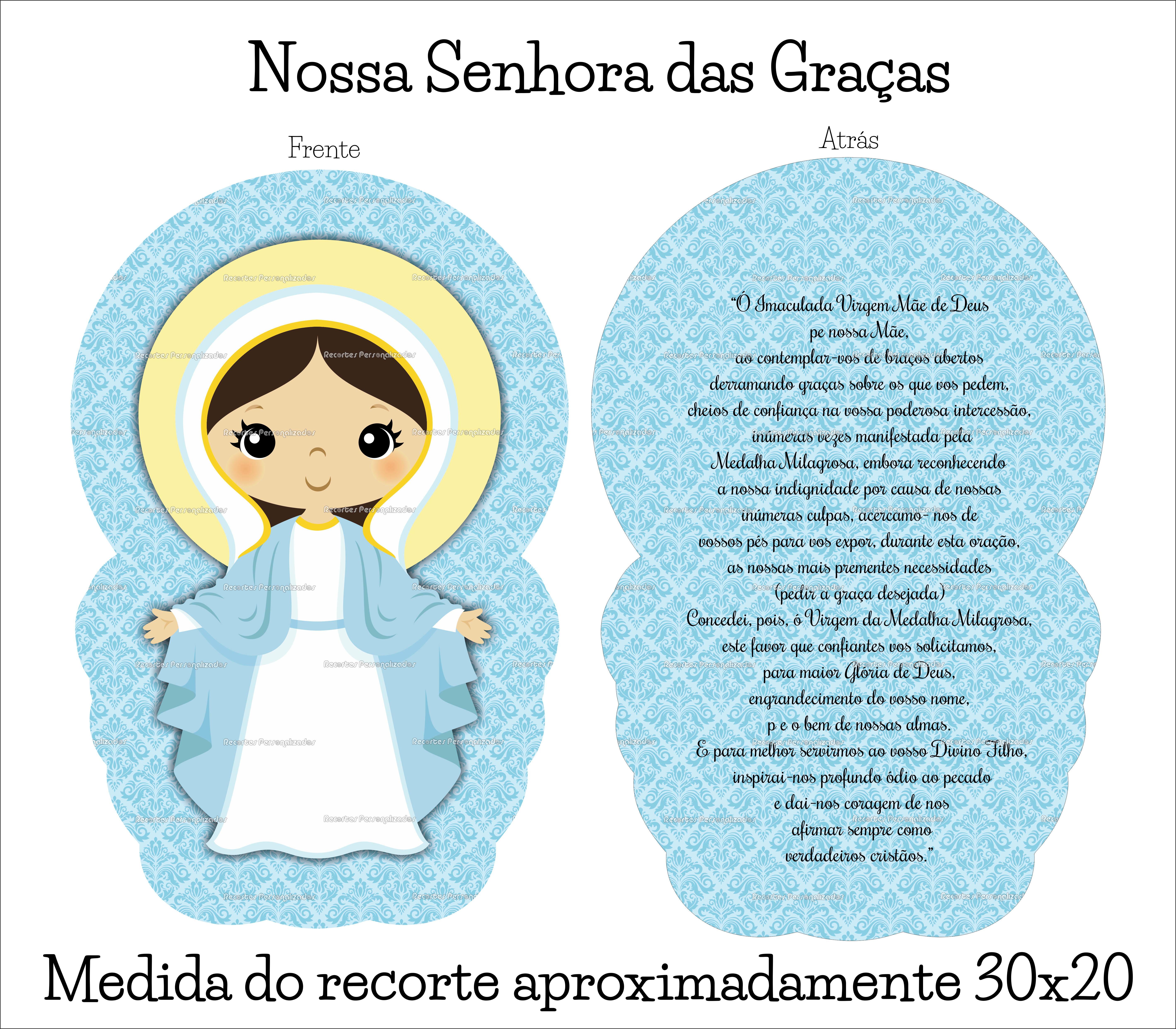 Recorte Em Tecido Naninha P Nossa Senhora Das Gracas No Elo7