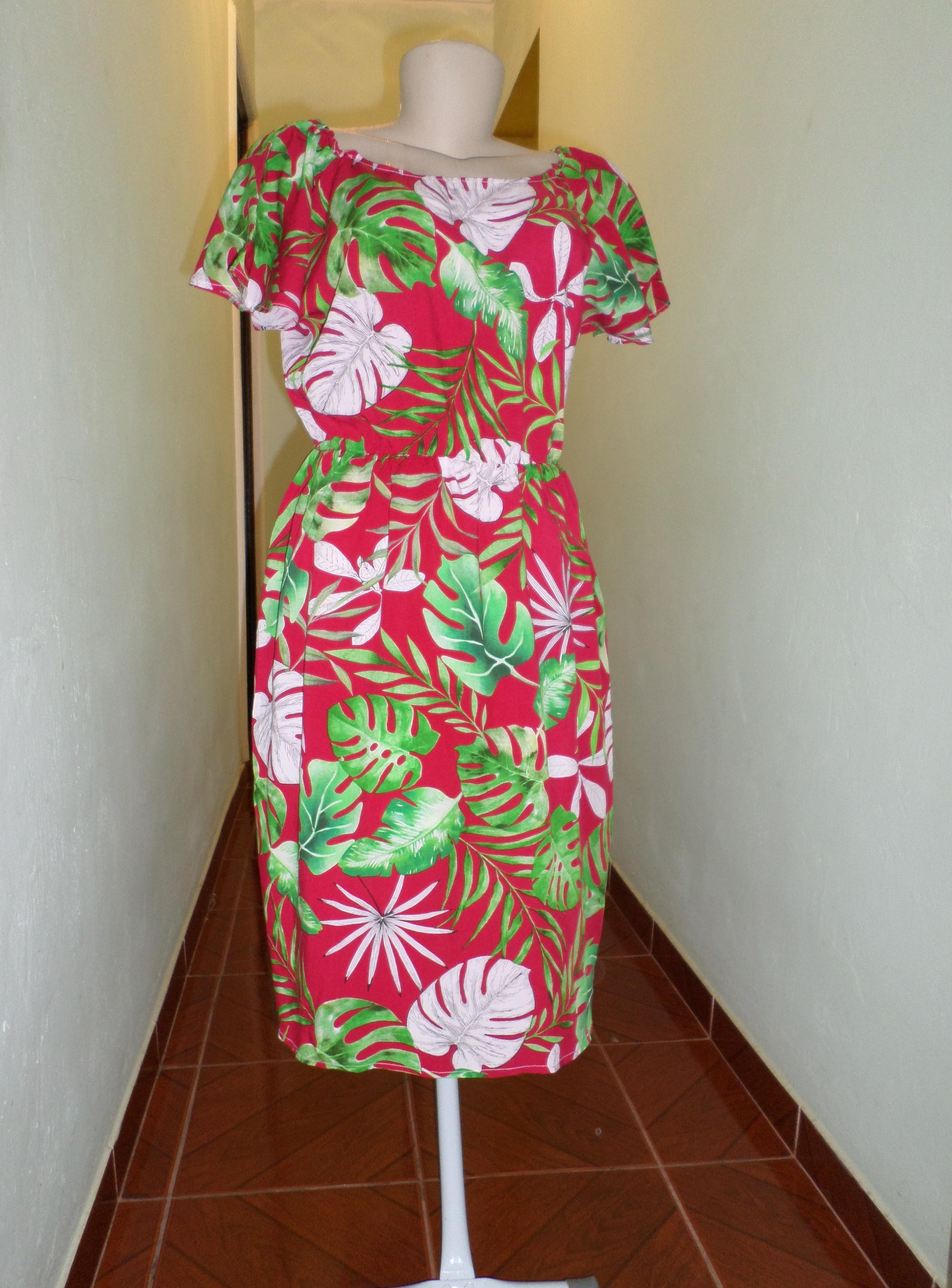 51c6a12c24 Vestido de Viscose Estampado