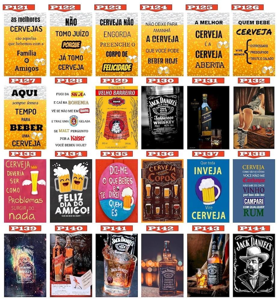 Placas Decorativas Posters Vintage Bebidas Frases Bar