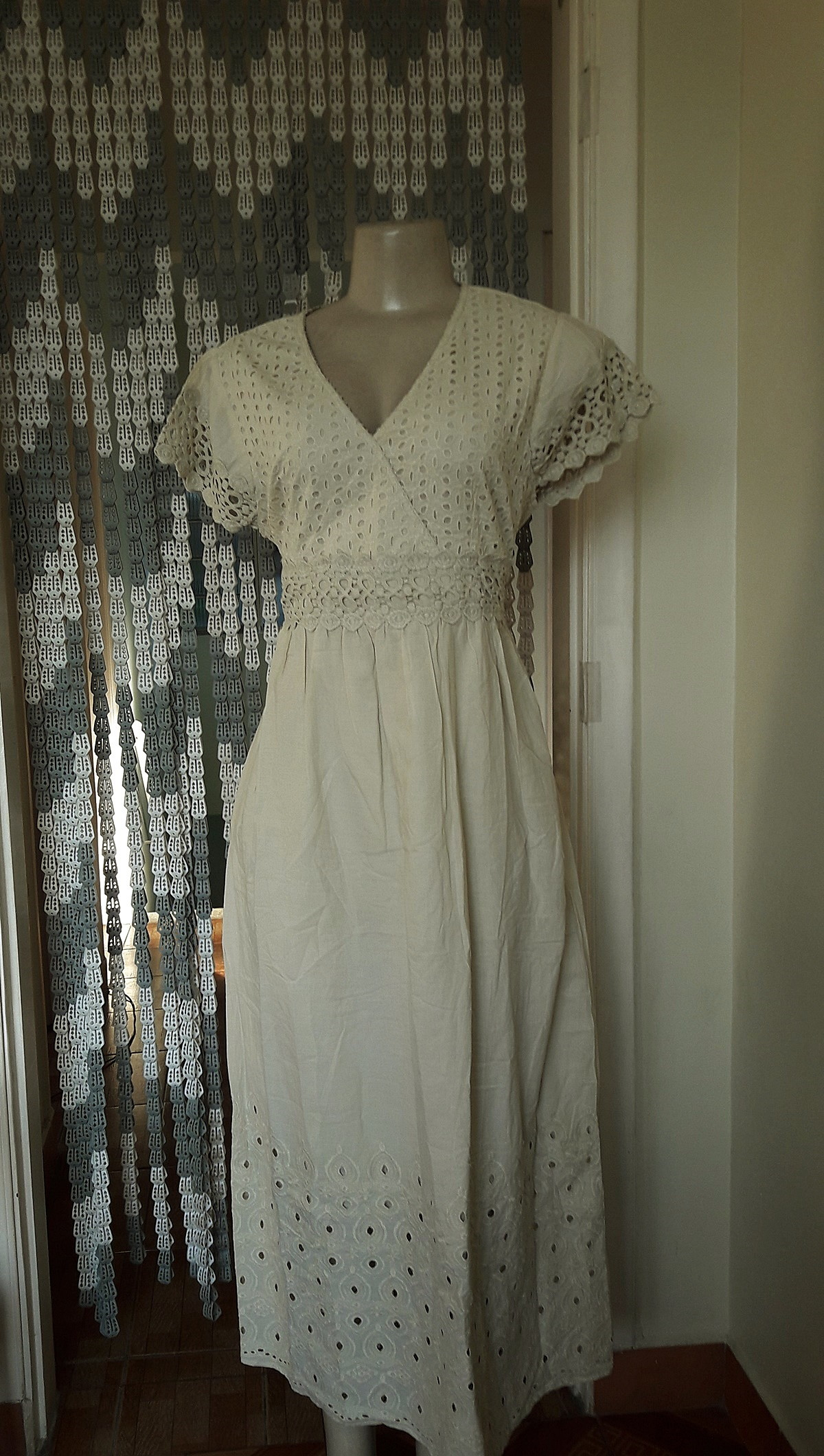 b5764b66210c vestido longo algodão laise renda grupir nude exg no Elo7 | Belíssima Moda  Criativa Bordados e Rendas - Ateliêr Artesanal (DF006E)