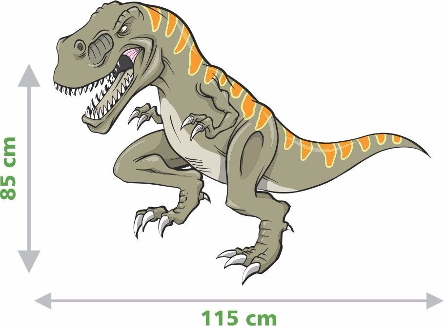 Adesivo De Parede Desenhos De Dinossauro Rex No Elo7 Brenno