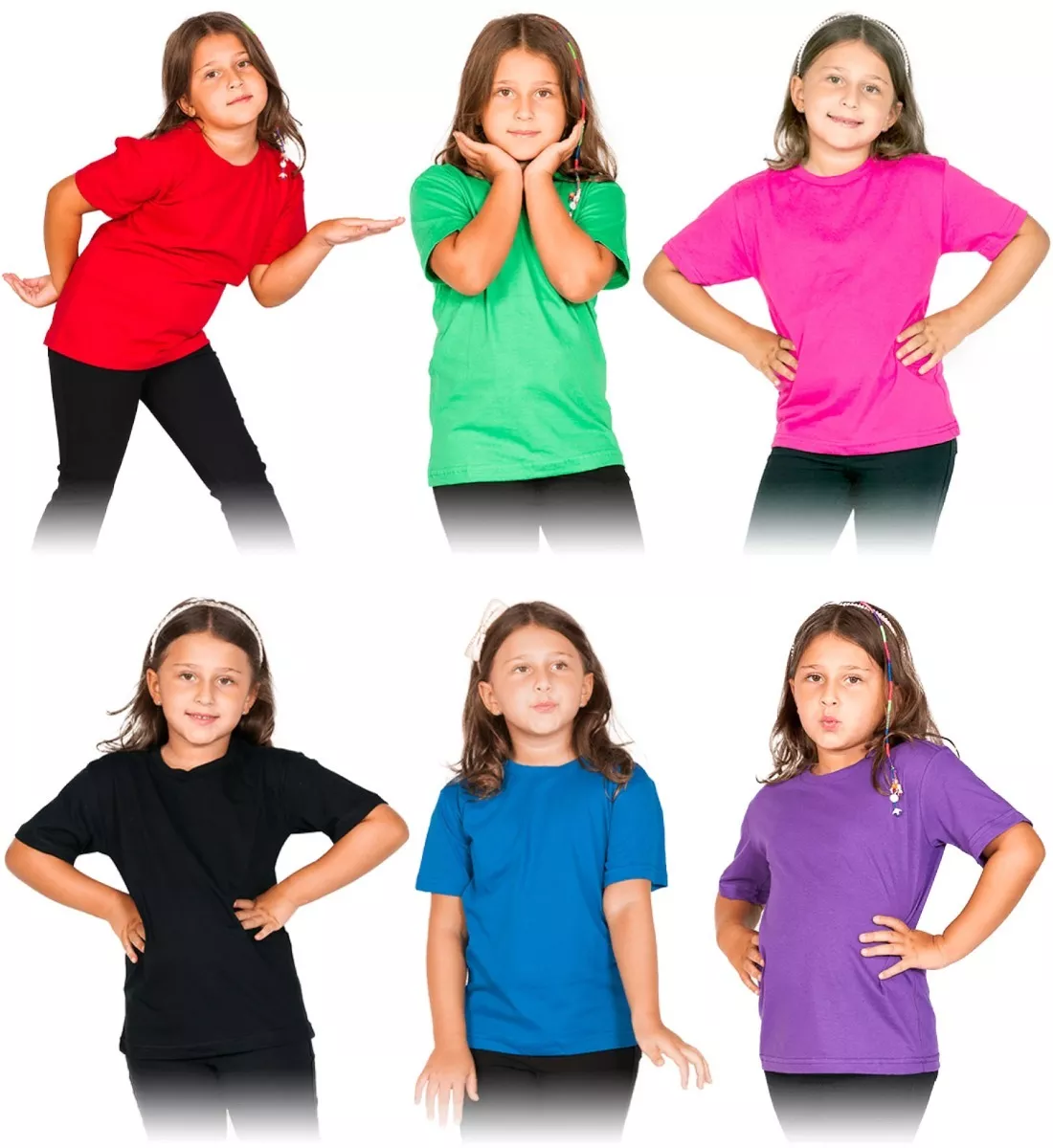 e9b3447fe7 Kit 12 Camisetas Infantil Básica Lisa Algodão Atacado no Elo7