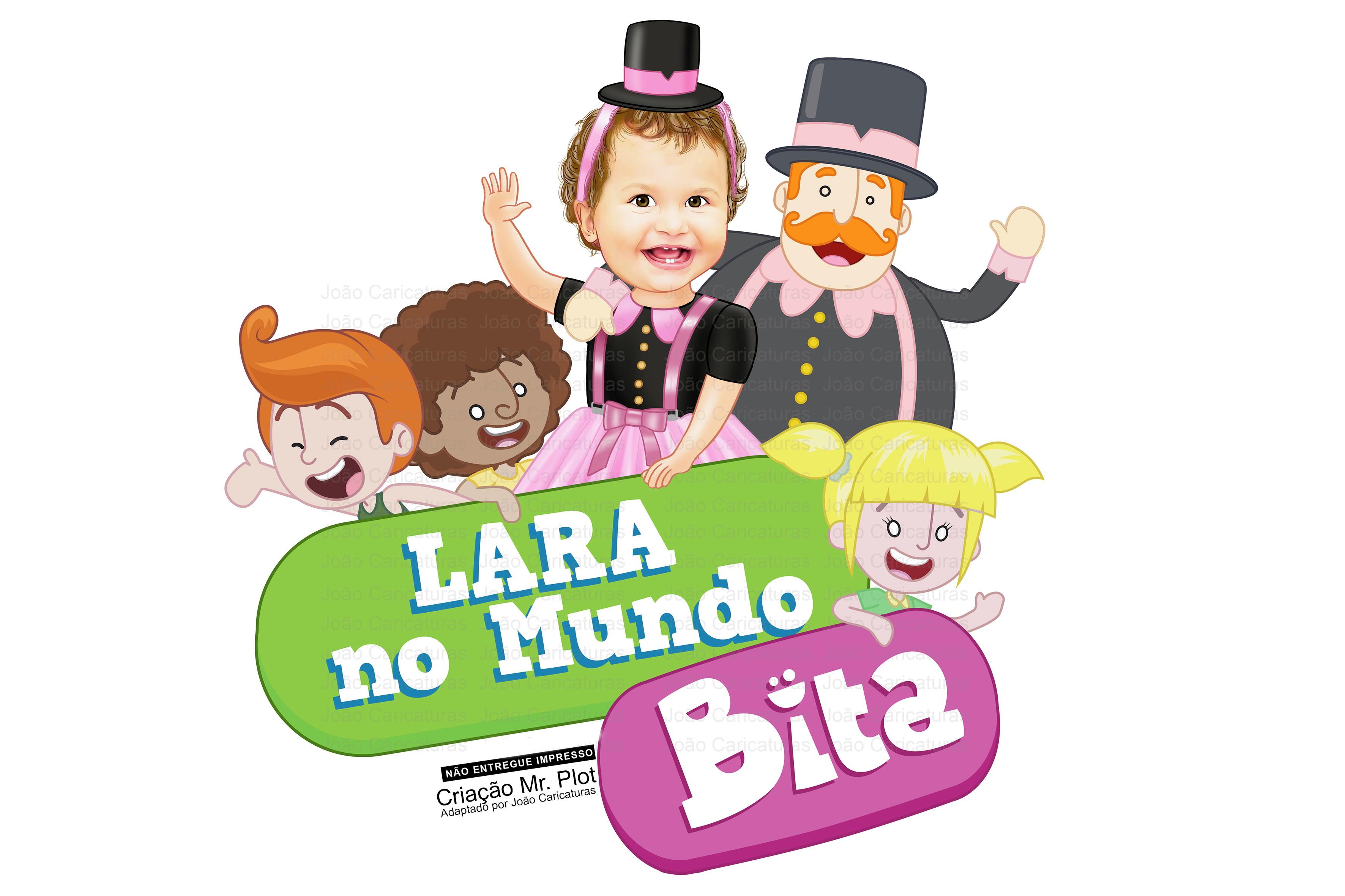 0fa090ba66c1cc Linda caricatura criança menina fantasiada de Mundo de Bita