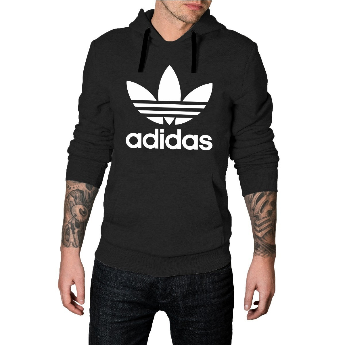 a633433f73 Blusa de Frio Moletom Adidas Outono | Elo7