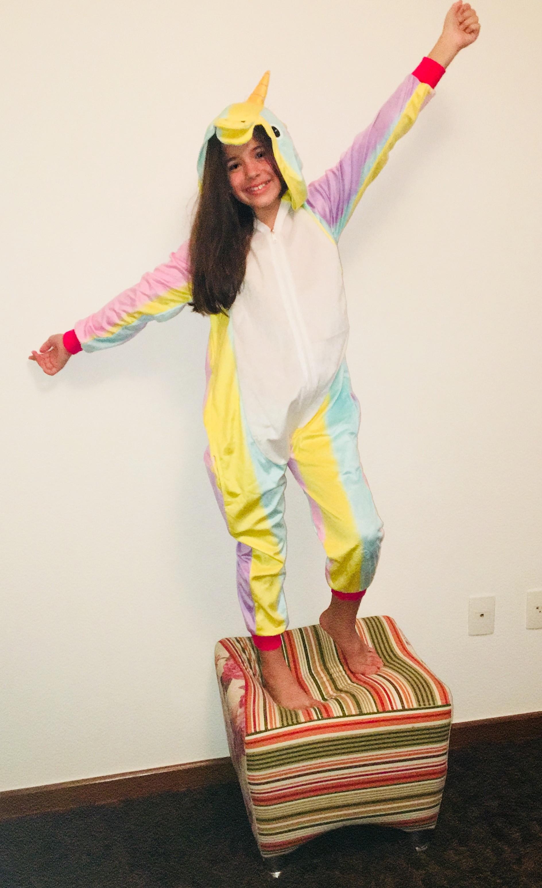 21b1435b5d8266 Pijama Kigurumi de Unicornio Colorido | Elo7