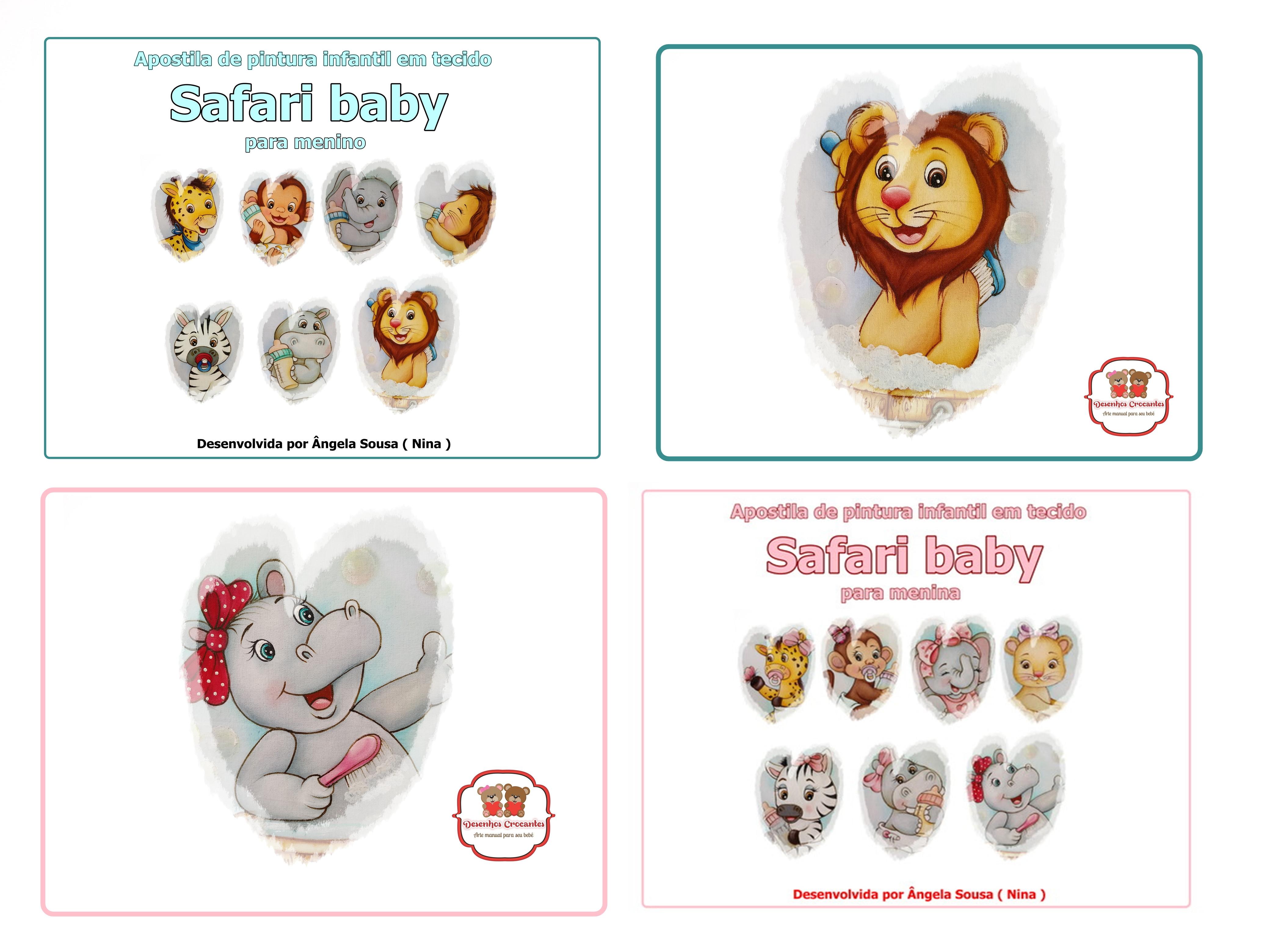 Promocao Apostilas De Pintura Em Tecido Safari Baby No Elo7