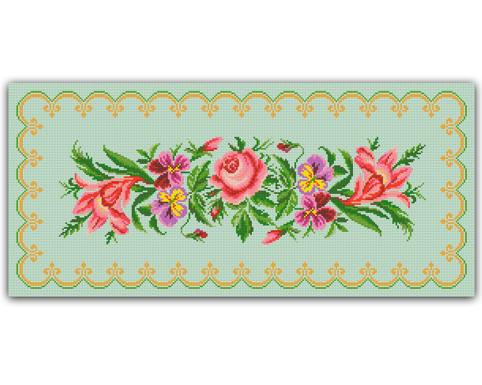Toalha Floral Gráfico Ponto Cruz No Elo7 Thimage Gráficos De Ponto Cruz 868731