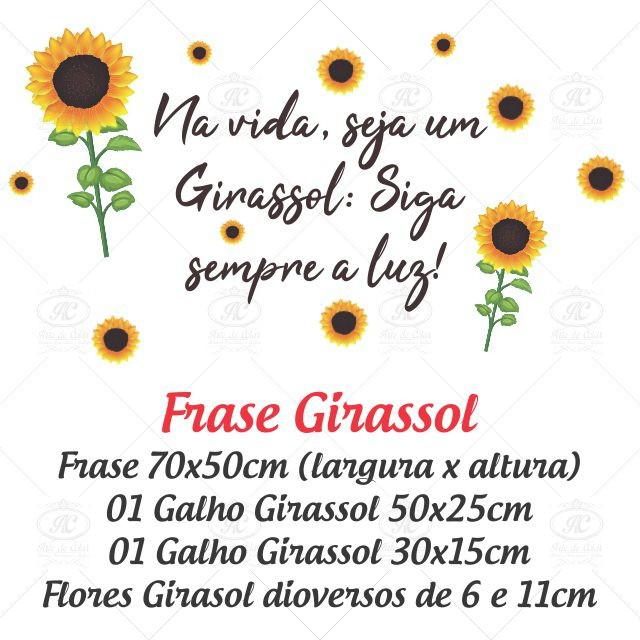 Adesivo De Parede Frase Girassol