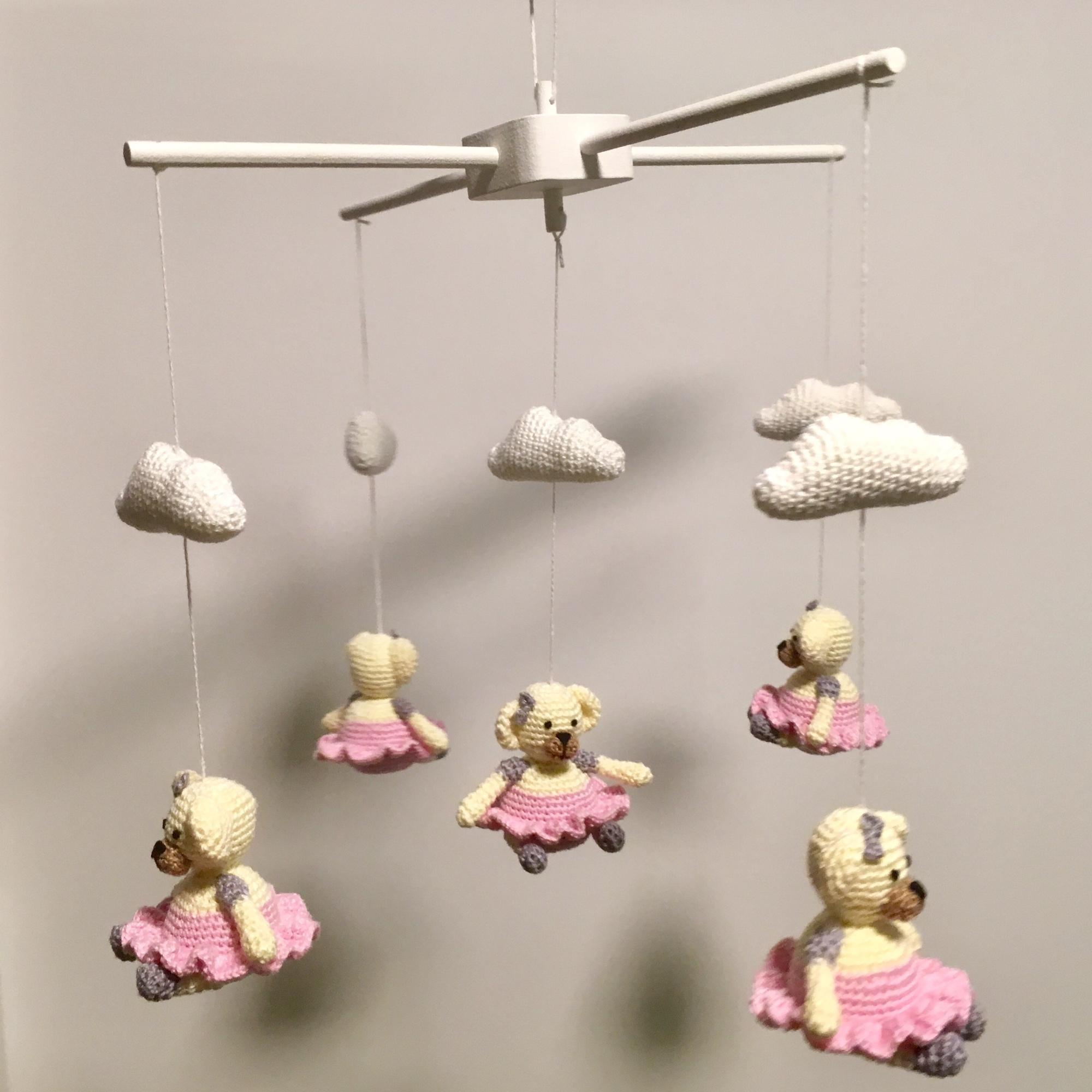 Crochet an adorable amigurumi baby mobile of a cloud with rainbow ...   2000x2000