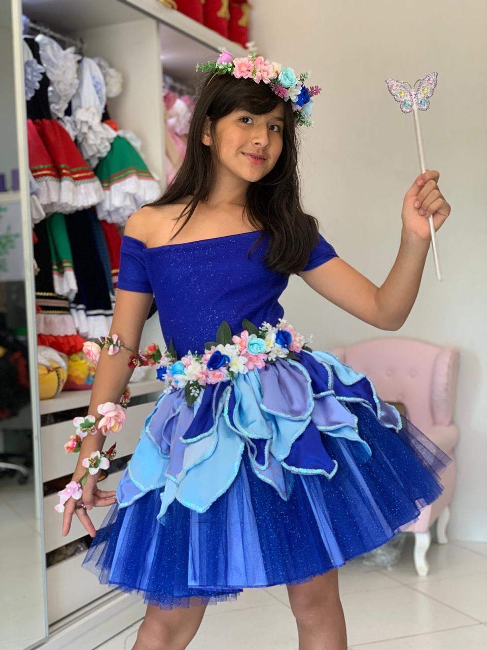 7c53d08ce107 Fantasia Paquita Azul | Elo7