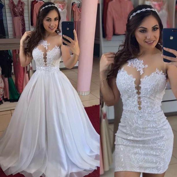Vestido De Noiva 2 Em 1 Elo7