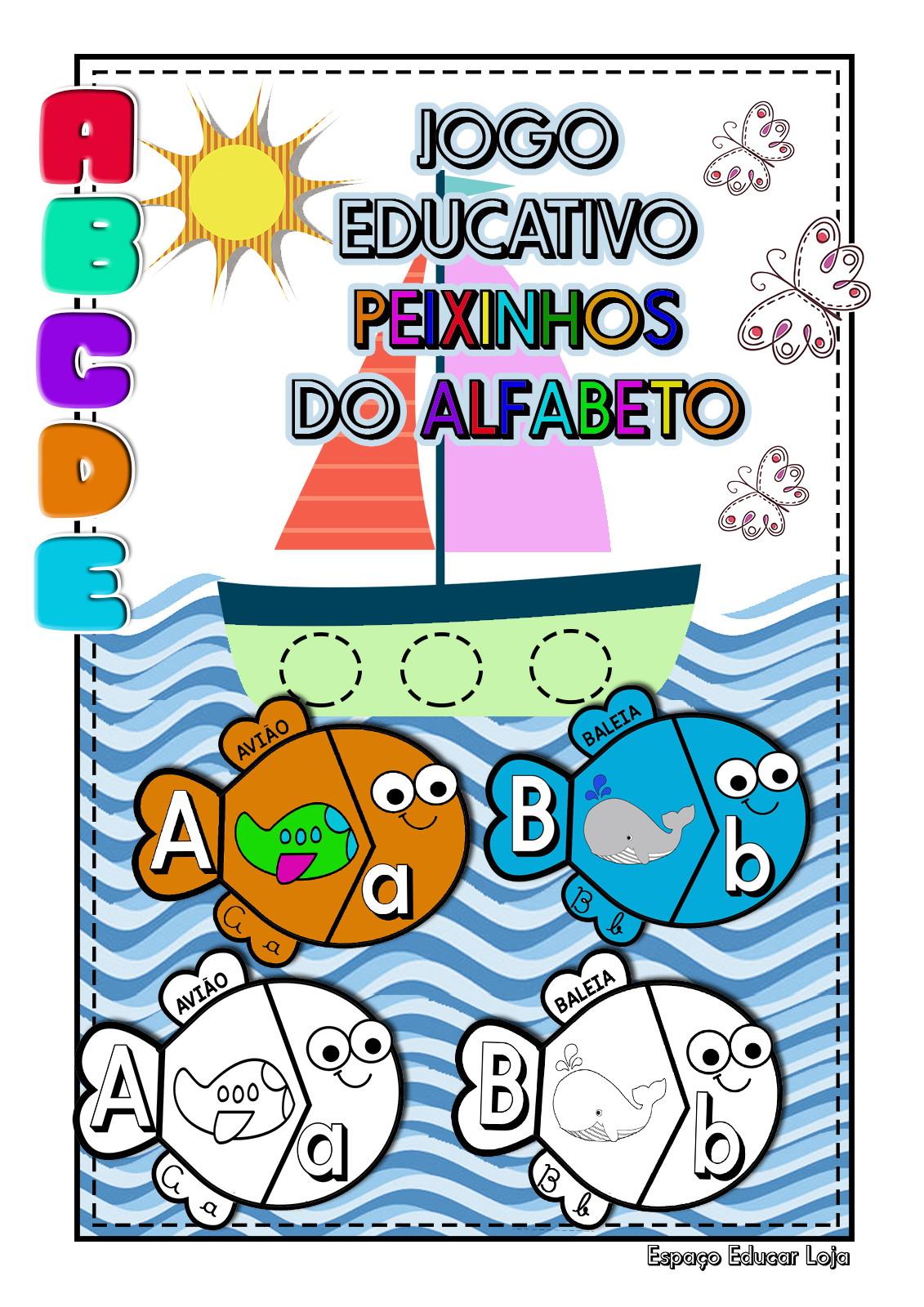 Jogo Educativo Peixinhos Do Alfabeto Quebra Cabecas Digital No