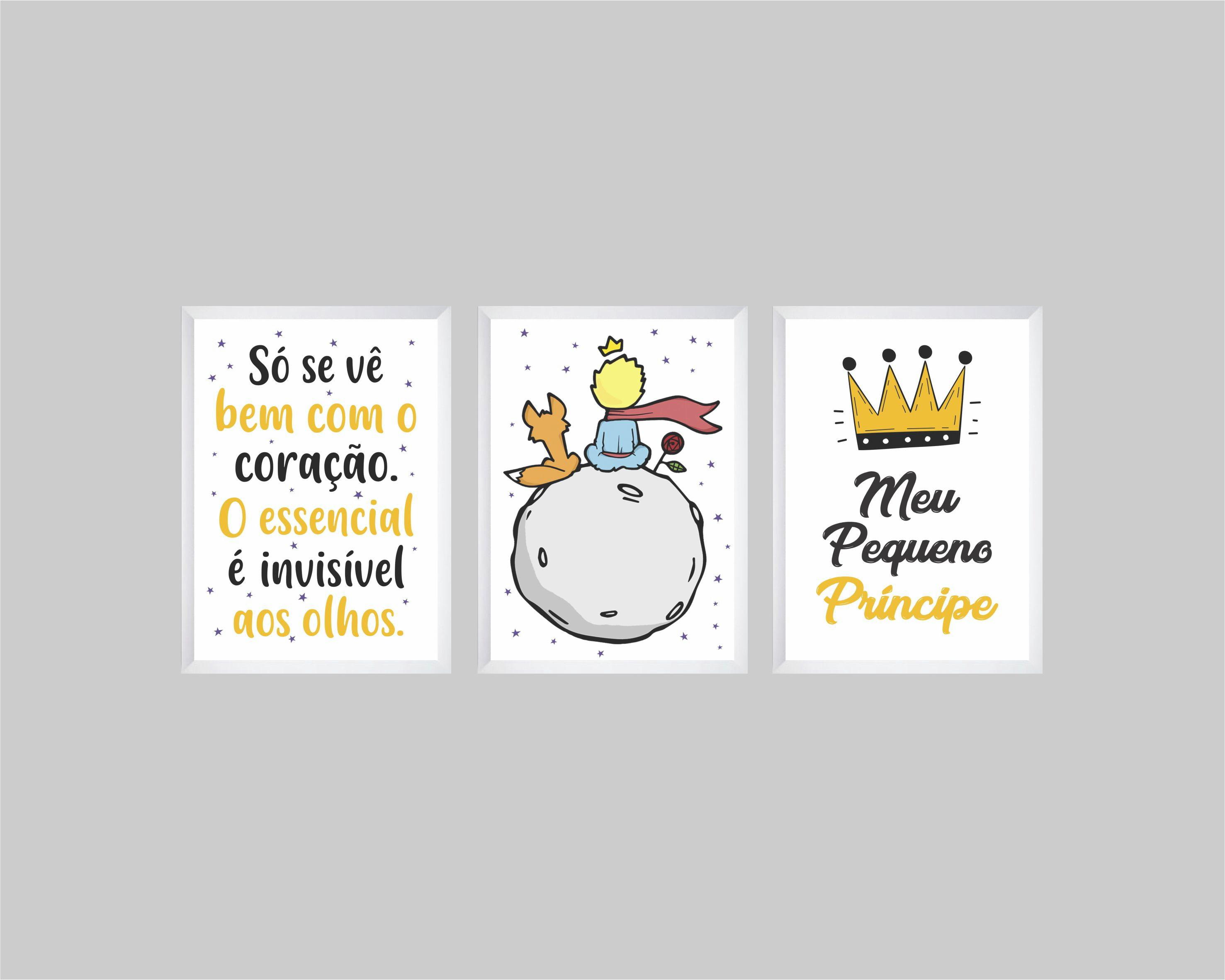 Quadros Infantis Frase Desenho E Meu Pequeno Principe No Elo7